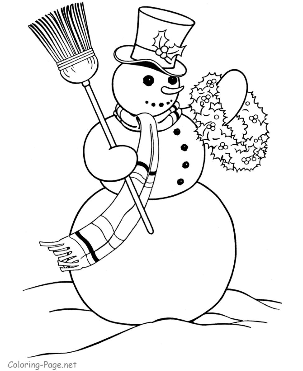 картинки раскраски снеговика на новый год решил пойти стопам