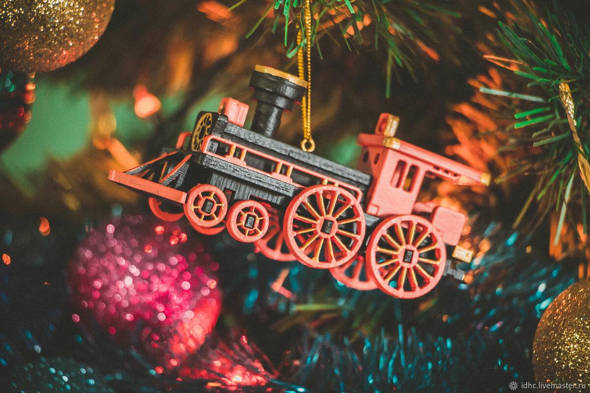 Картинки с новогодними поездами