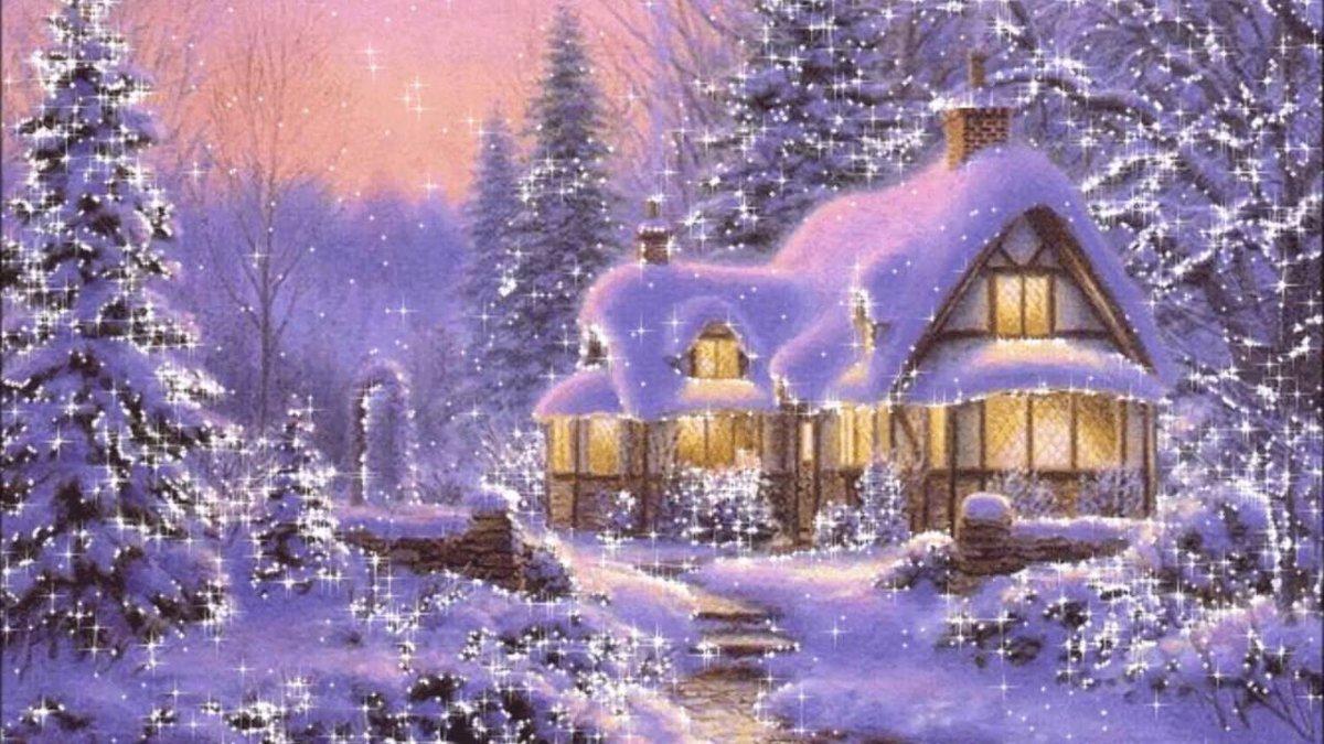 Картинки с анимациями зима, февраля открытки
