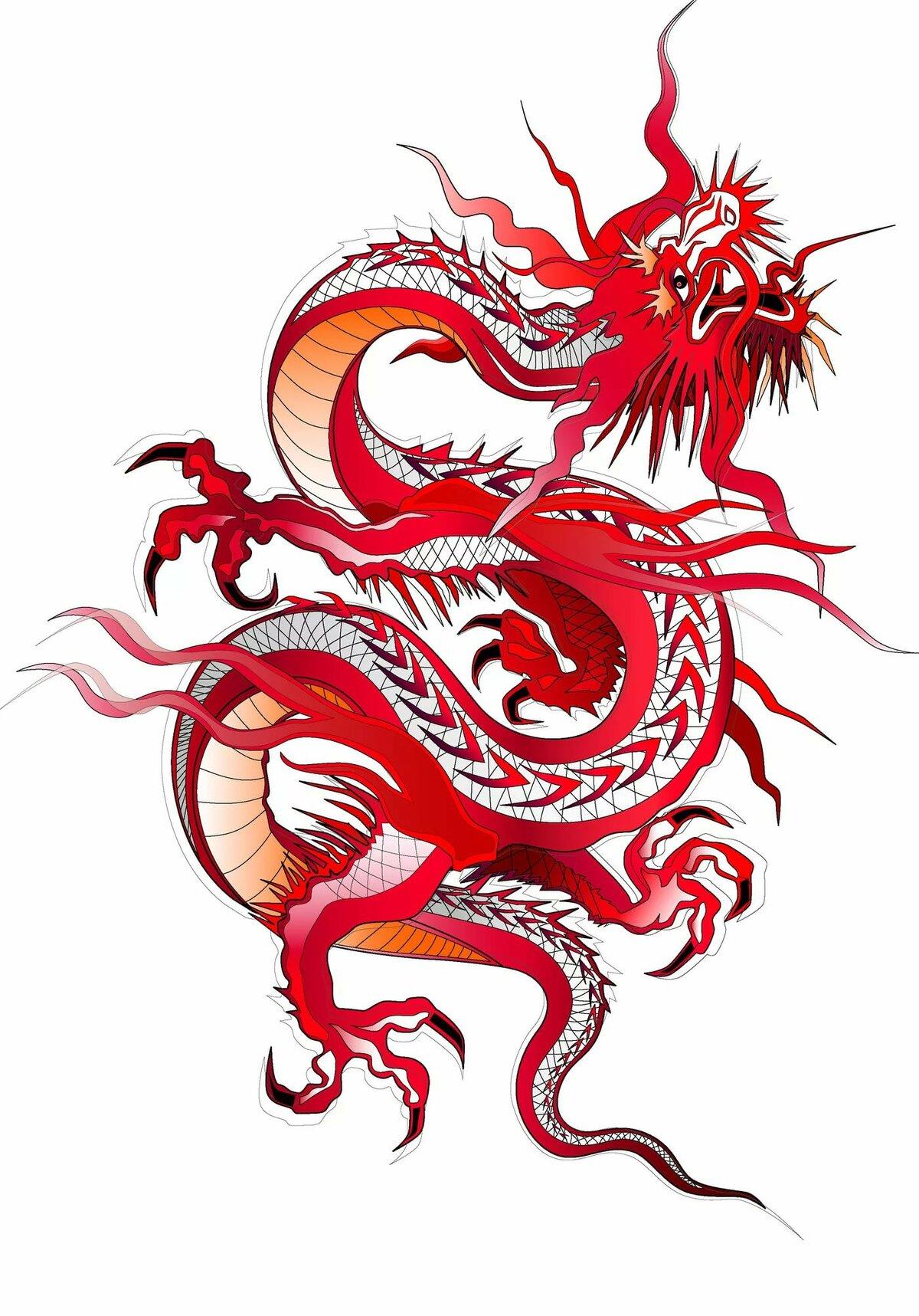 На японском дракон картинка