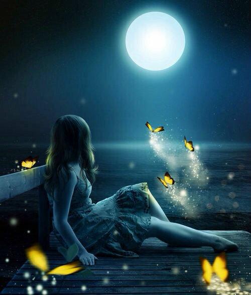 Мигающие новым, картинки девушке на ночь
