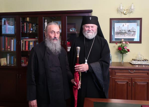 Митрополит Киевский и всея Украины Онуфрий и архиепископ Пражский Михаил