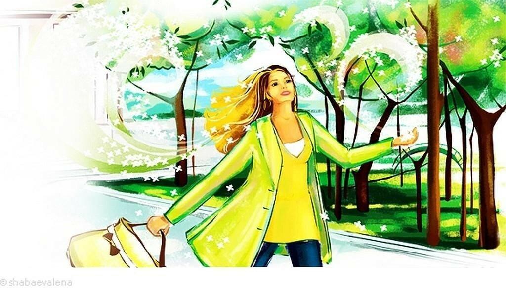 Днем татьяны, картинки весна девушка идет