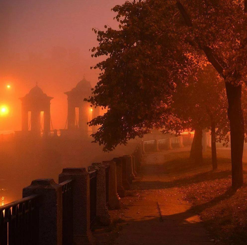 имеет фото вечерний туман в городе трусиках красных