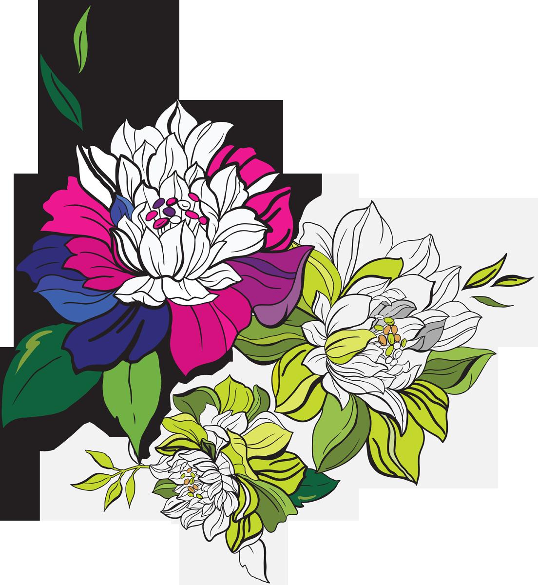 векторные картинки и рисунки цветов знают