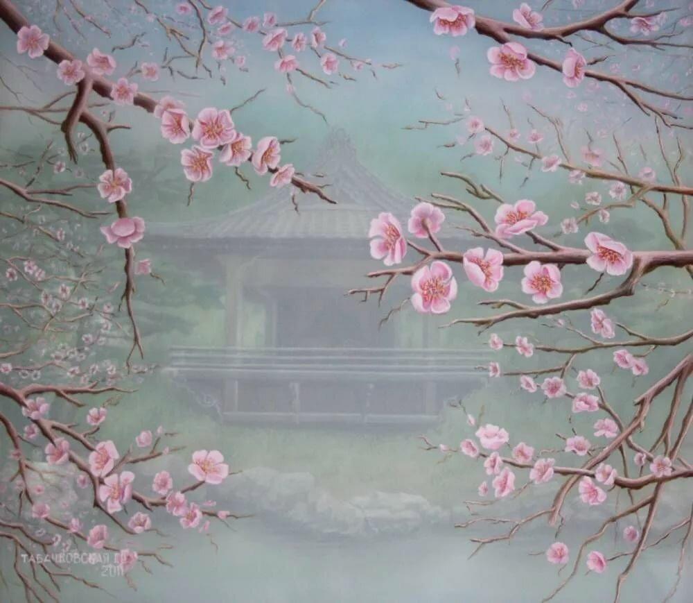 постер с изображением сакуры