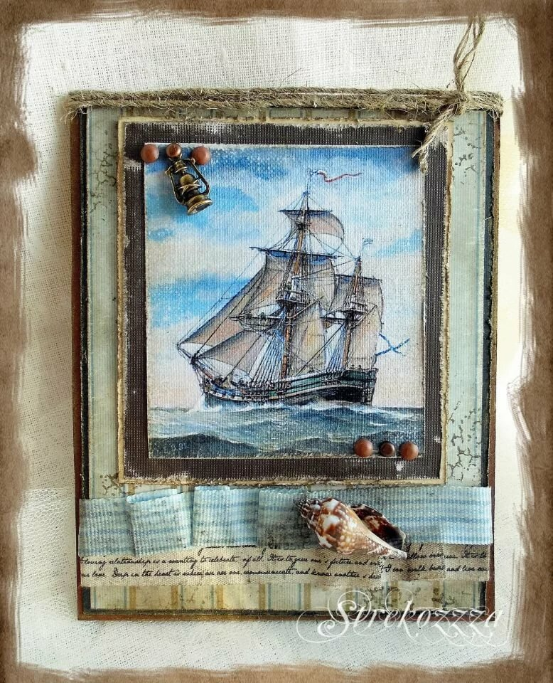 Открытки скрапбукинг с кораблями, летием