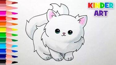 Как нарисовать котенка видео