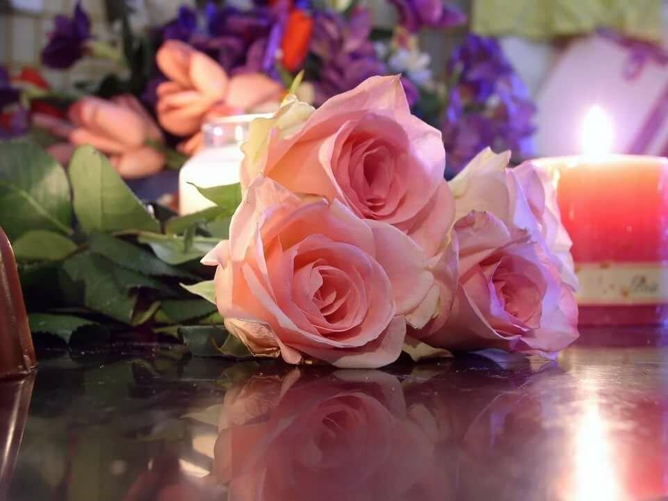 Вечер, цветы картинки на день рождения лене
