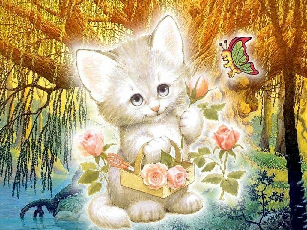 сотню левых открытка флэш котик принес