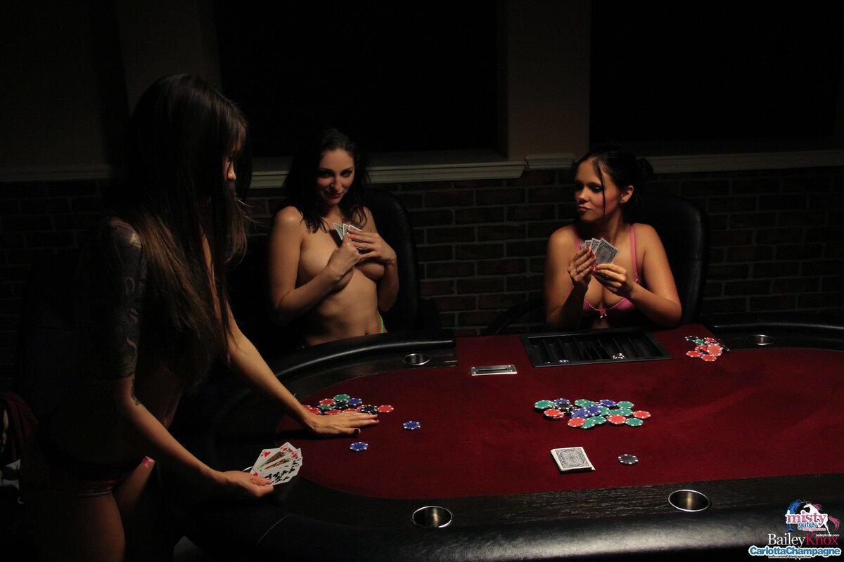 Poker strip thong