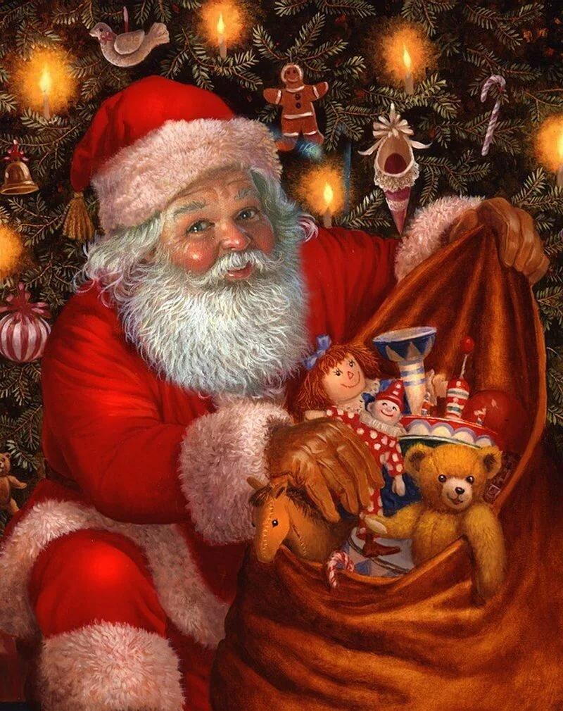 рождественские картинки санта одолела англичан