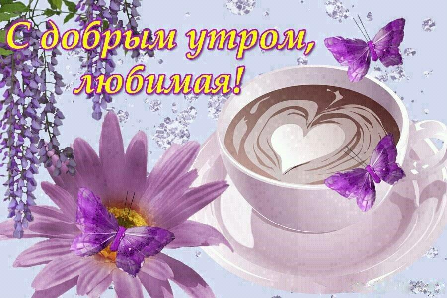 Картинки с добрым утром для любимой девушки самые красивые и нежные, тему отношения любовь
