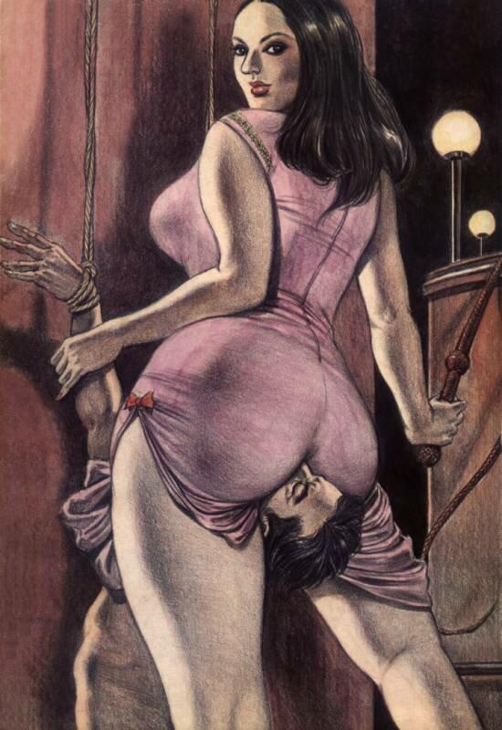Женское доминирование рисованное порно фото