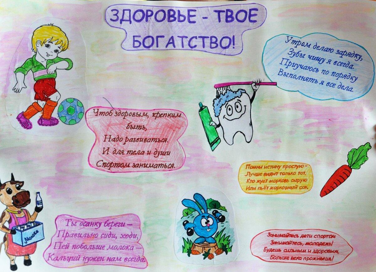 Тема здоровый образ жизни в детском саду картинки
