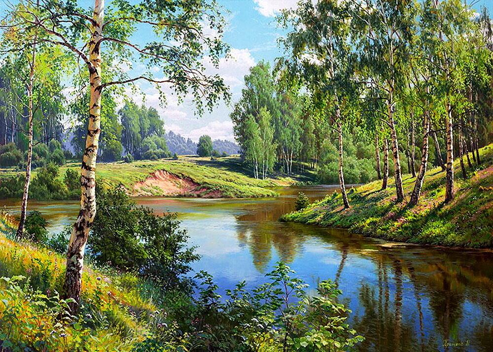 Картинки летних пейзажей русских художников, картинки