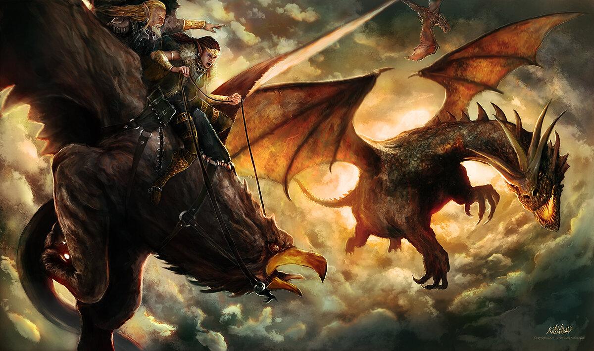 Картинки всадников на драконах