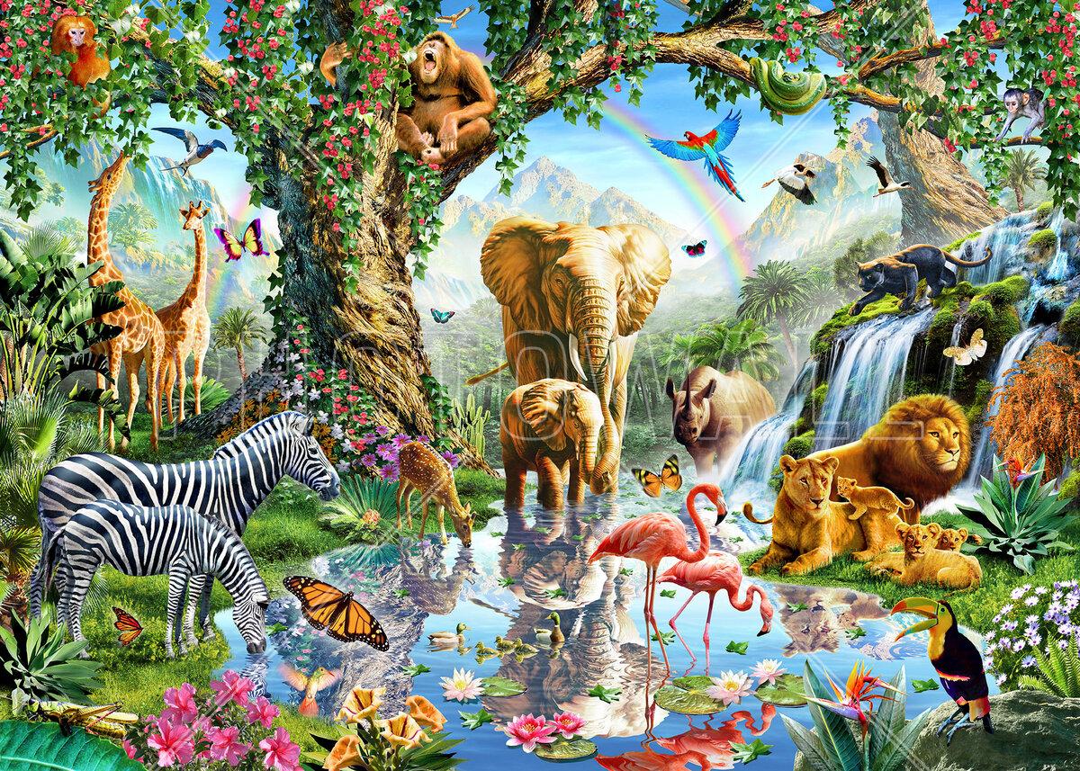 животные планеты земля картинки друг другом