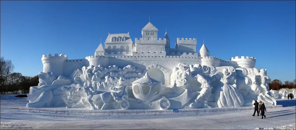 Картинки снежного городка