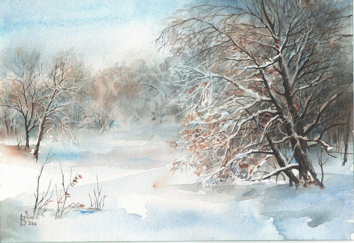 Картинки смотреть, зимние акварельные картинки