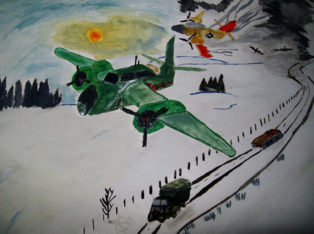 Нарисовать картинку о войне, надписью смешно весело