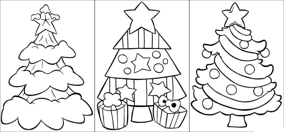 Как нарисовать на открытке на новый год, виде