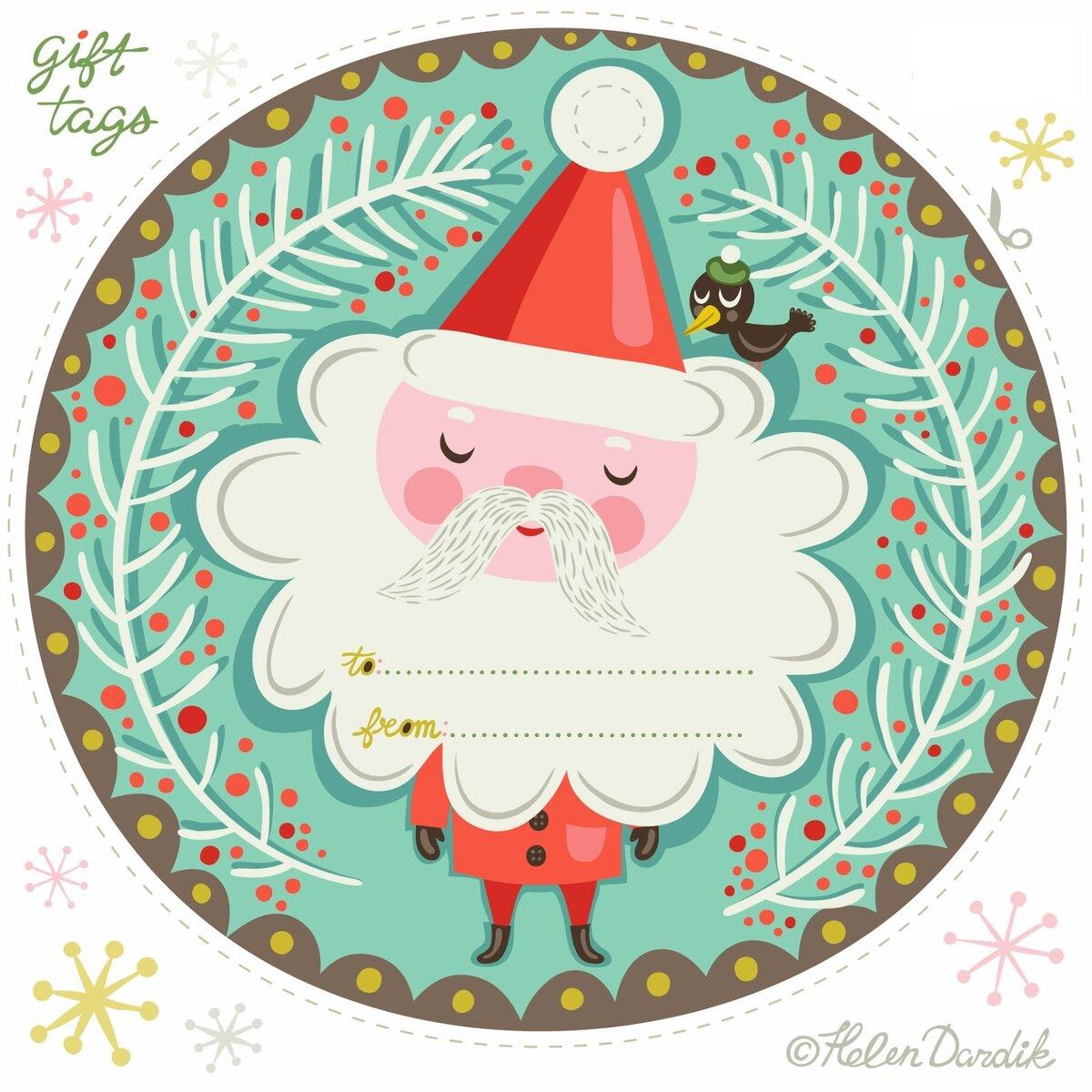 Наклейки для открыток новый год, сделать