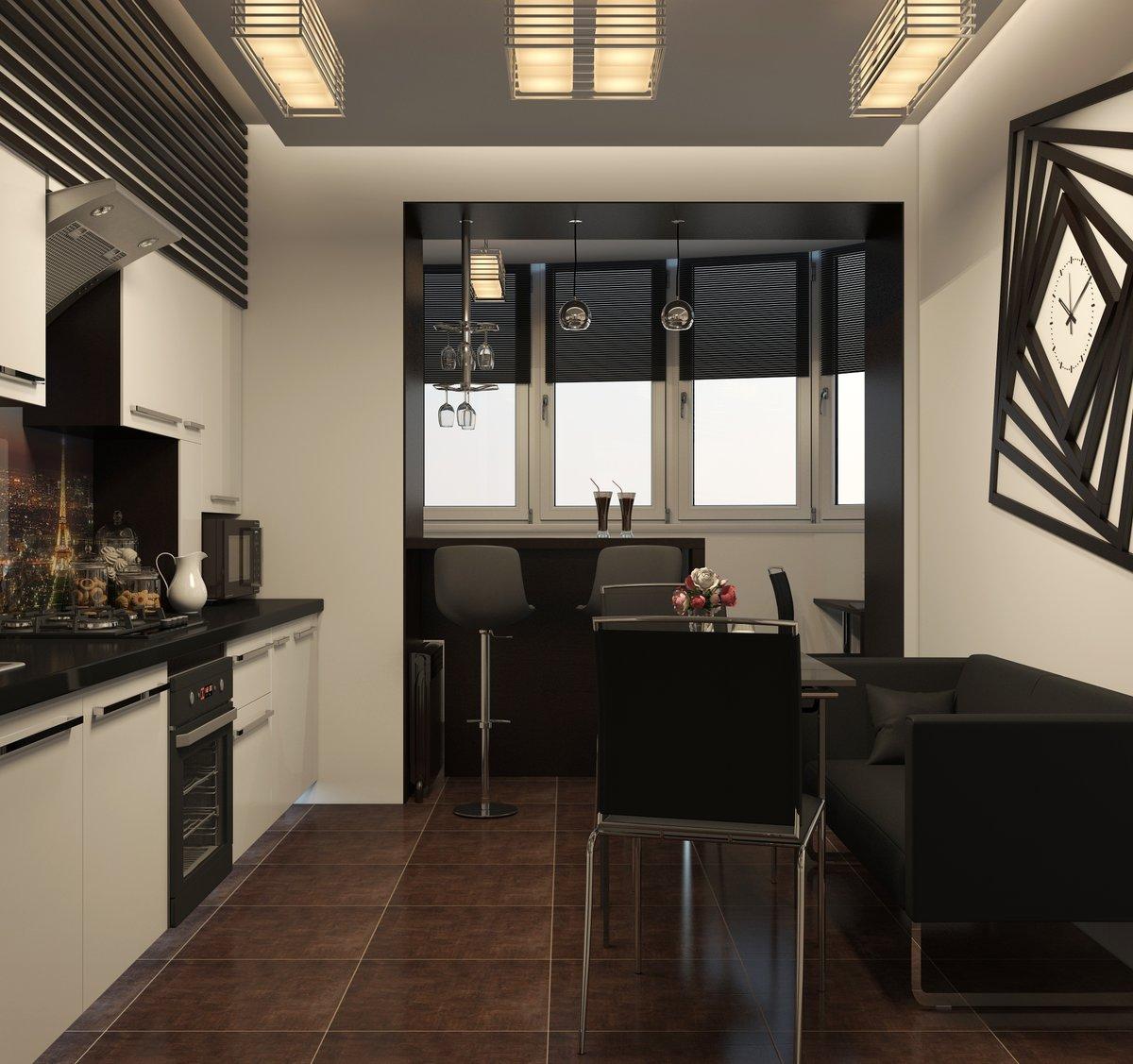 Кухни на балконе