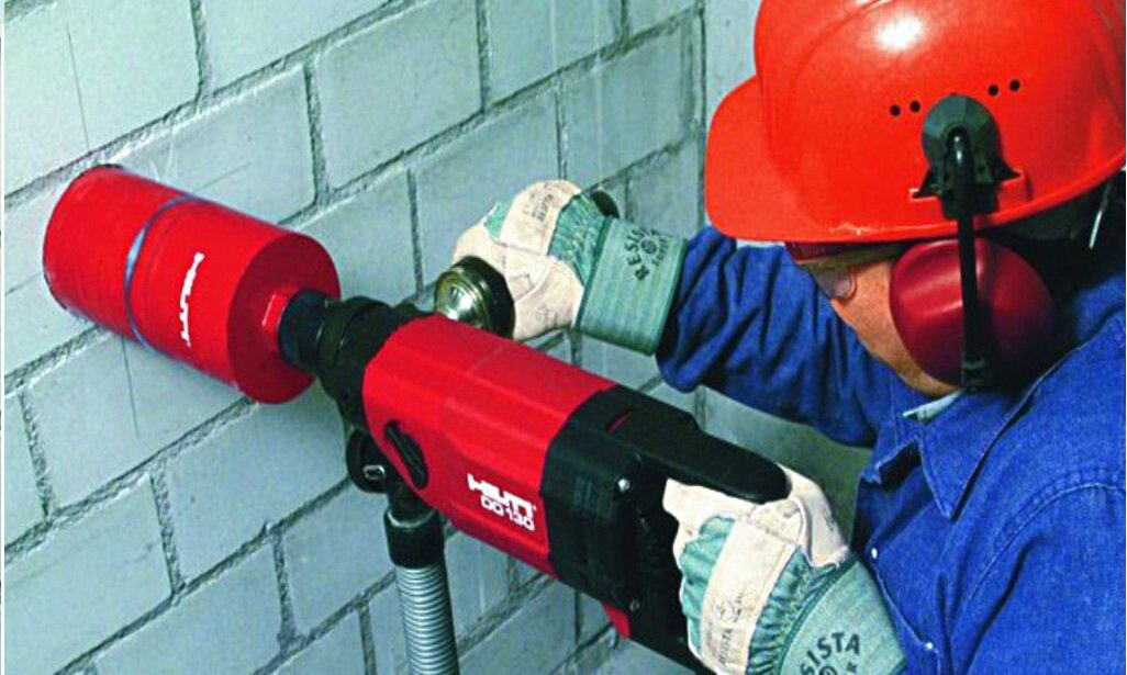 сколько стоит просверлить отверстие в бетоне