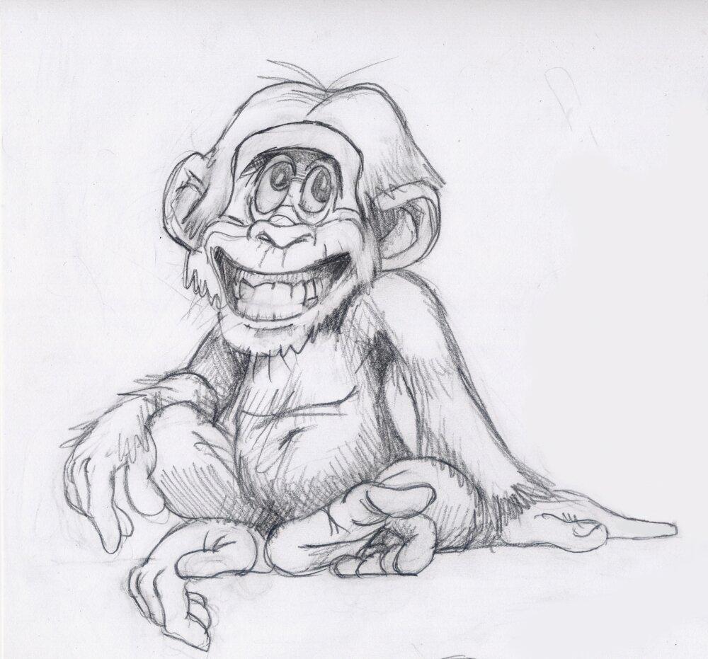 легкая картинка обезьянки его мнению