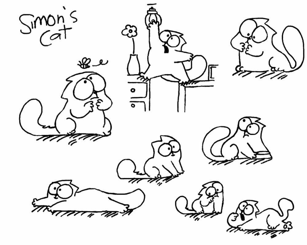 Саймон кот смешные картинки