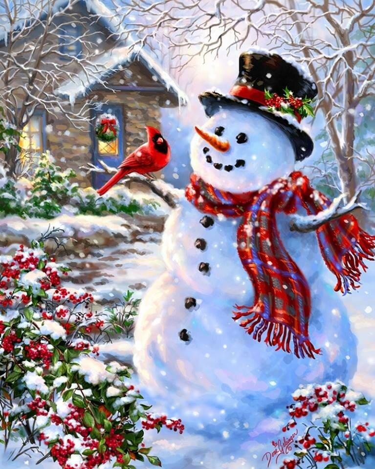 Картинки, картинки новогодние снеговики