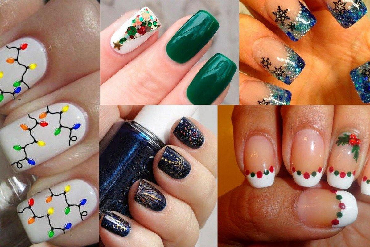 Новогодние рисунки на ногти картинки