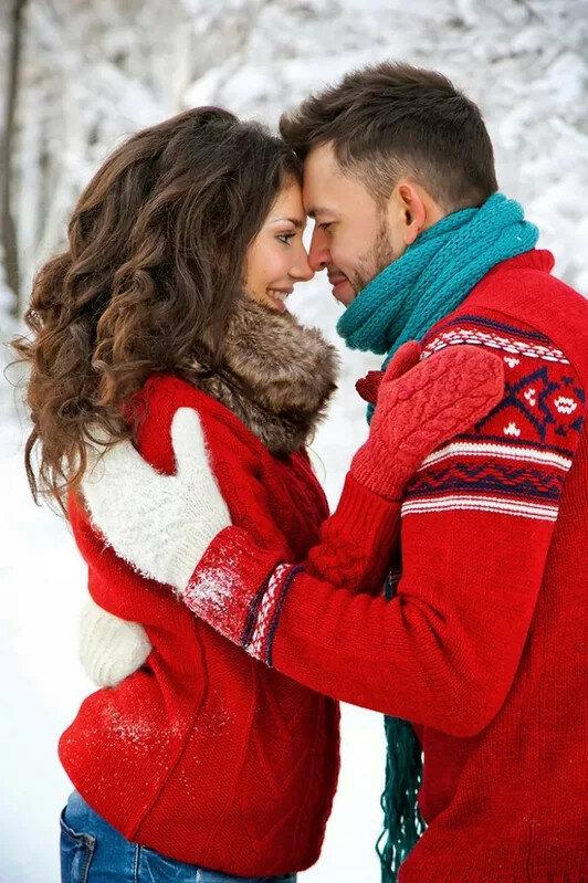Новогодние картинки с влюбленными парами
