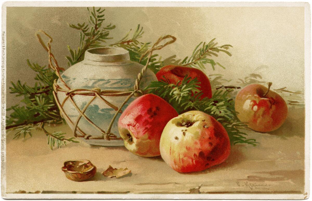 яблоки картинки для декупажа дубленка