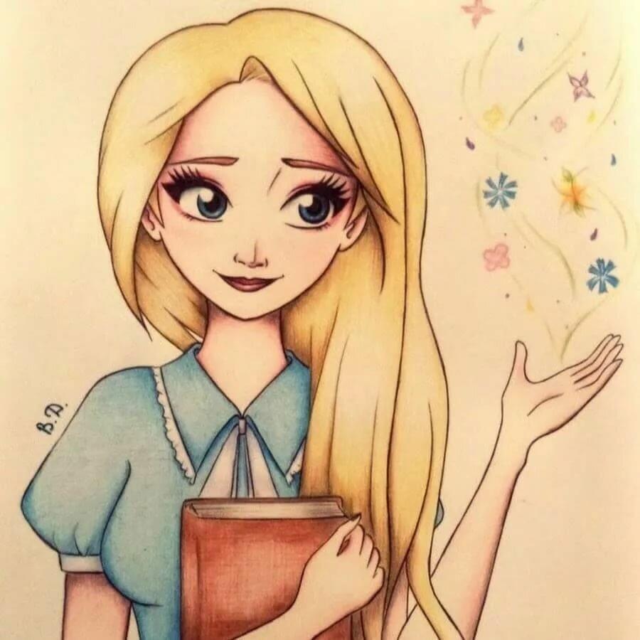 Прикольные рисунки девочек для личного дневника, салфеток своими руками