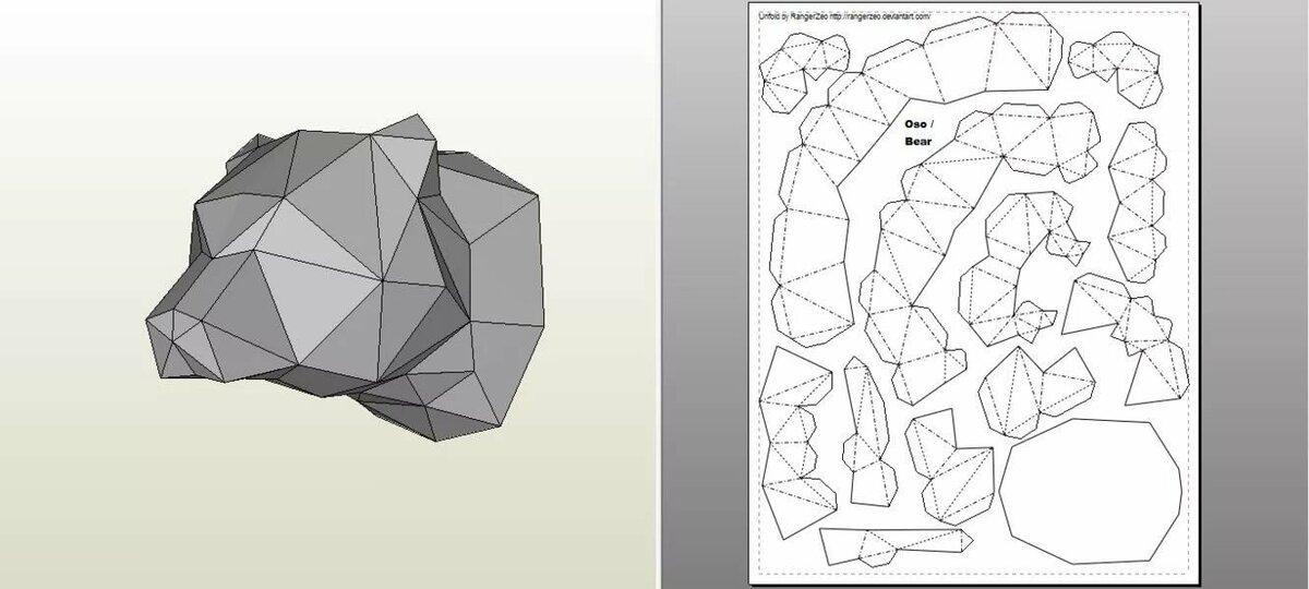 Приколами веселые, шаблоны для паперкрафта