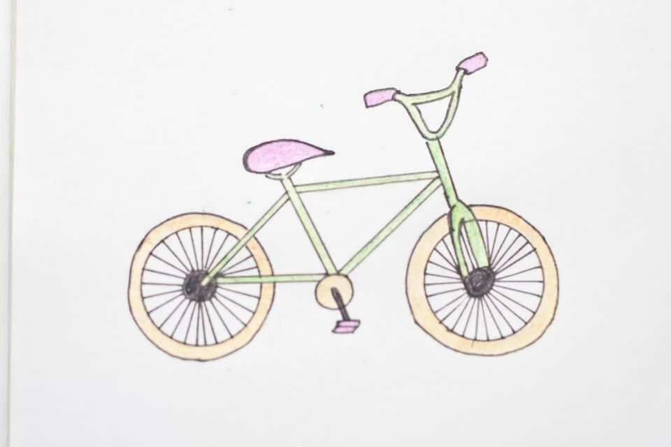 Картинки карандашом с велосипедом