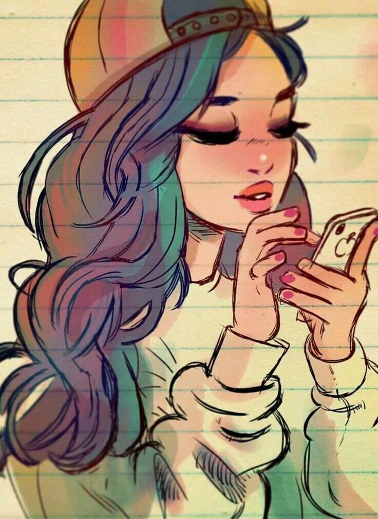 Крутые и милые картинки для девочек, фразы картинки
