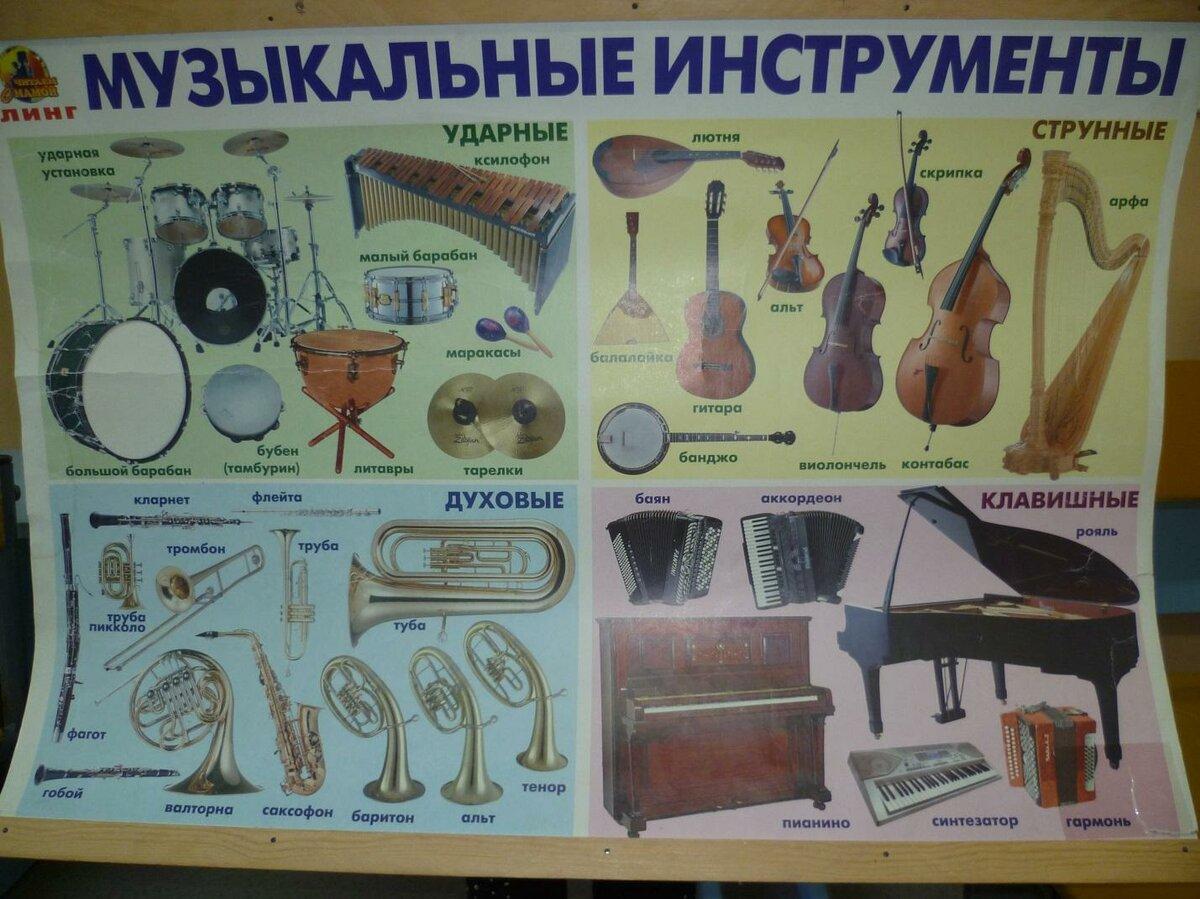 Фото и название музыкальных инструментов