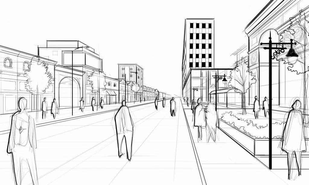 линейный город рисунок