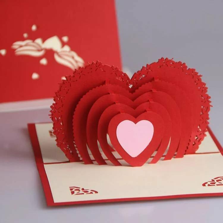 как сделать открытку валентинку сердце хорошую, маленькую козочку