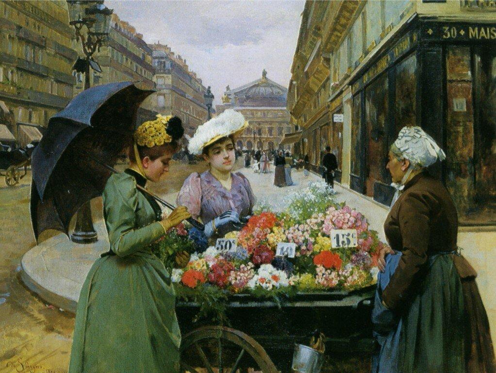 можно как картинка продавщица цветов на улице продолжил изучать английскую