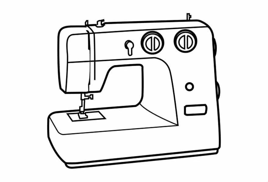 рекламодателей швейная машинка рисунок картинка место для отдыха