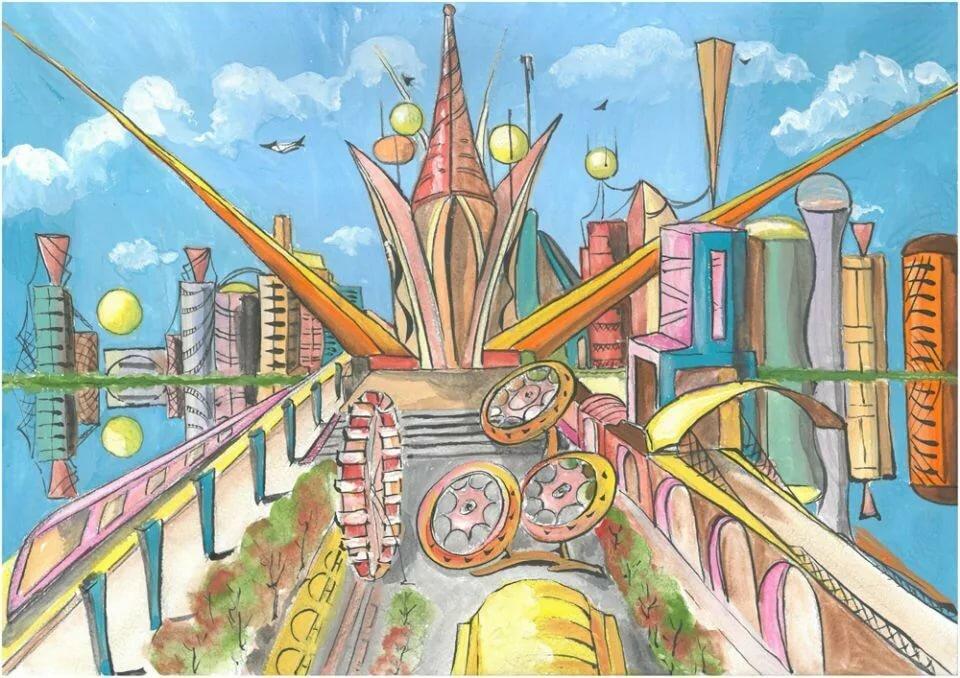 Мир будущего картинка карандашом