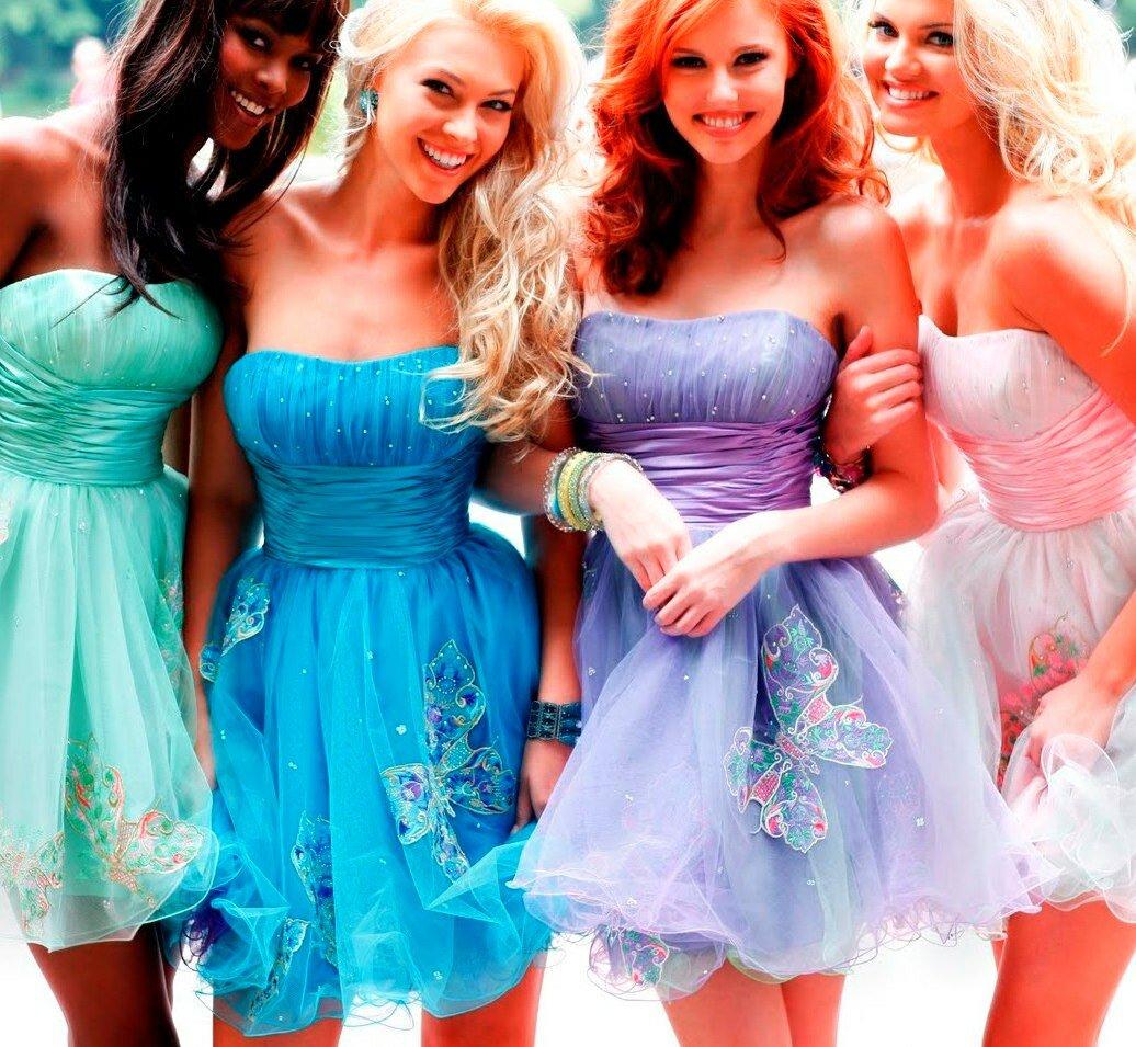 Картинки платья для подруг