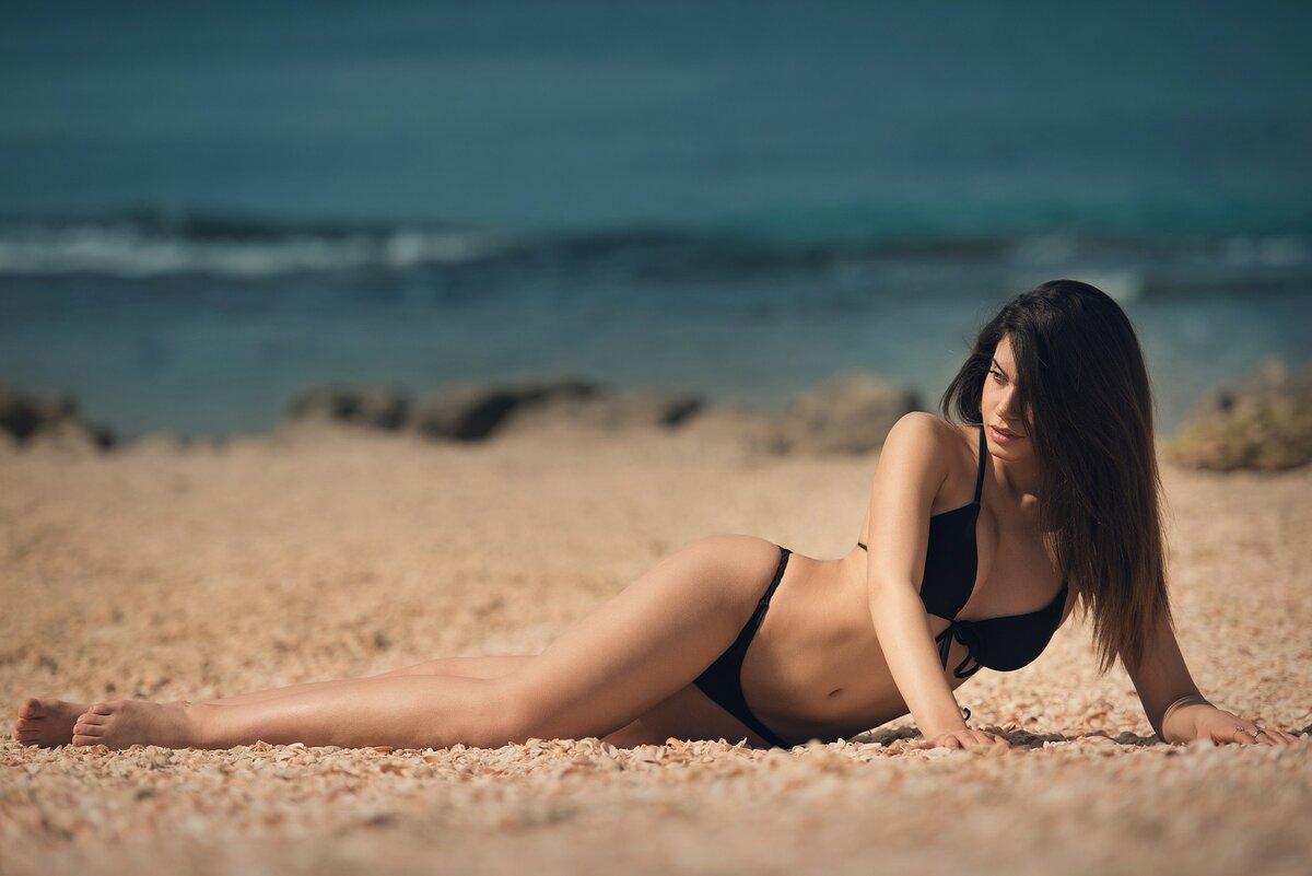 Реальные фото девушек на пляже с мобильного
