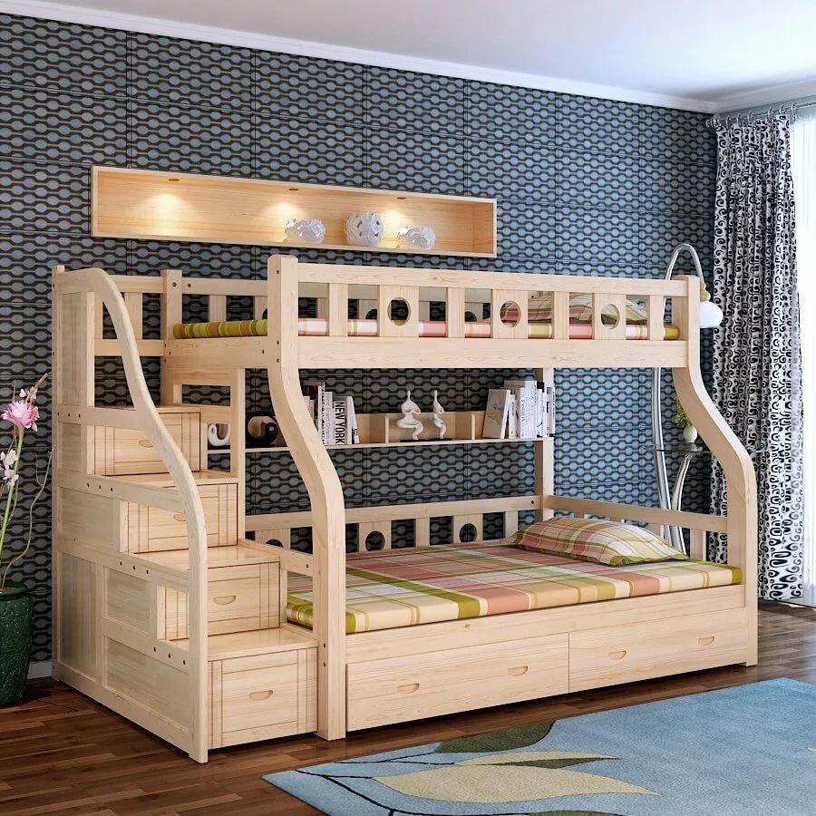 Картинки двухъярусная детская кровать