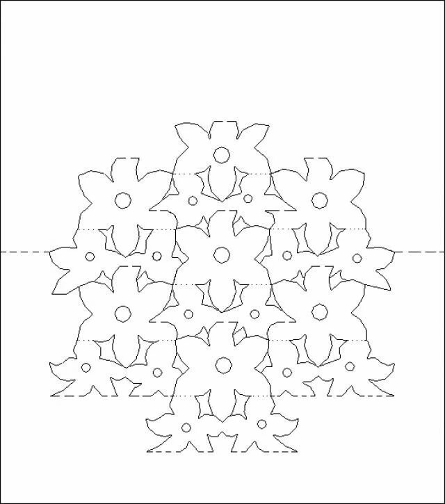 Схема открыток киригами, алексей днем
