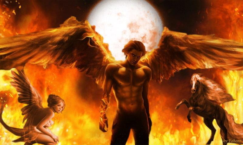 Открыток собственных, гифки ангелы и демоны